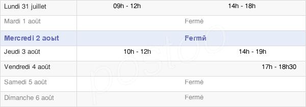 horaires d'ouverture de la Mairie De Montenoy