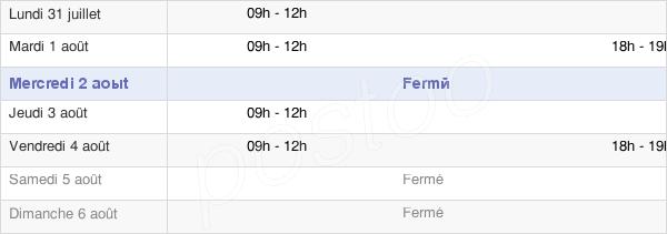 horaires d'ouverture de la Mairie De Thiaville-Sur-Meurthe