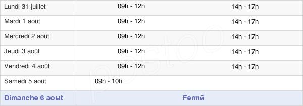 horaires d'ouverture de la Mairie De Ferrières-Sur-Sichon