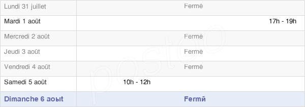 horaires d'ouverture de la Mairie De Merviller