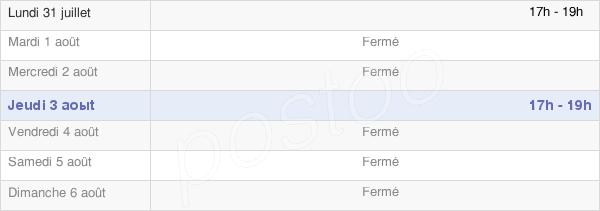 horaires d'ouverture de la Mairie D'Amance