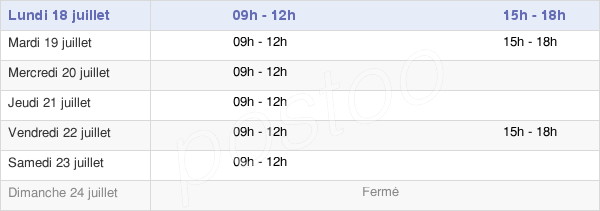 horaires d'ouverture de la Mairie De Quinssaines