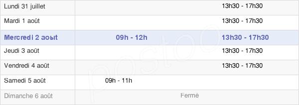 horaires d'ouverture de la Mairie De Lavault-Sainte-Anne