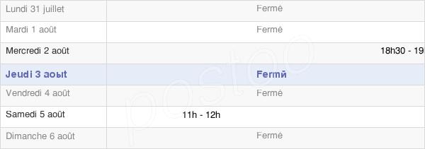 horaires d'ouverture de la Mairie De Velaine-Sous-Amance