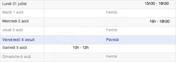 horaires d'ouverture de la Mairie De Laître-Sous-Amance