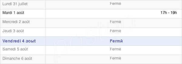 horaires d'ouverture de la Mairie De Dommartin-Sous-Amance