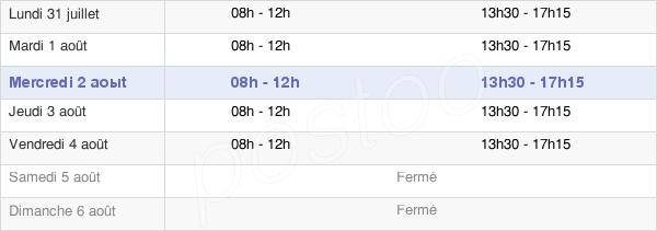 horaires d'ouverture de la Mairie De Lunéville
