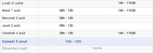 horaires d'ouverture de la Mairie De Couleuvre