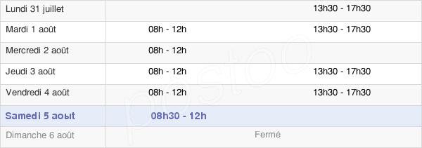 horaires d'ouverture de la Mairie D'Ygrande