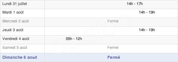 horaires d'ouverture de la Mairie De Créchy