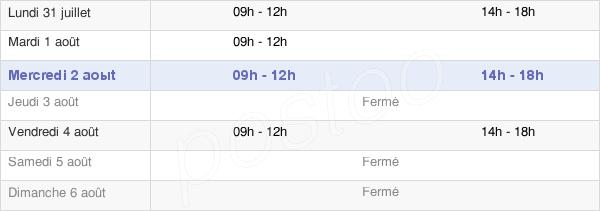 horaires d'ouverture de la Mairie De Saint-Menoux