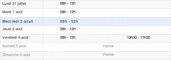 horaires d'ouverture de la Mairie D'Émerchicourt