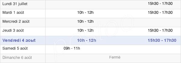 horaires d'ouverture de la Mairie De Bugnicourt