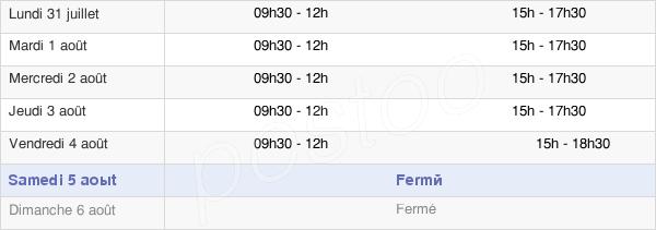 horaires d'ouverture de la Mairie De Bruille-Lez-Marchiennes