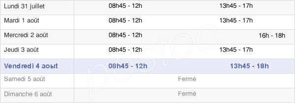 horaires d'ouverture de la Mairie De Saint-Souplet