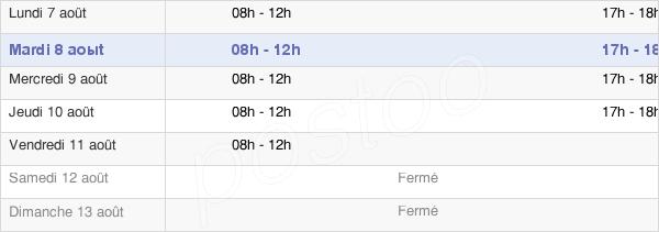 horaires d'ouverture de la Mairie D'Englefontaine