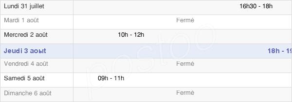 horaires d'ouverture de la Mairie De Grand-Fayt