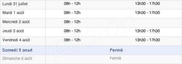 horaires d'ouverture de la Mairie De Tronget