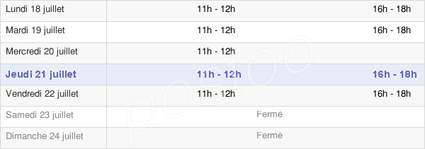 horaires d'ouverture de la Mairie De Wavrechain-Sous-Faulx