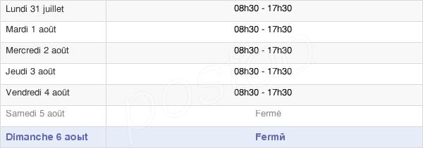 horaires d'ouverture de la Mairie De Bray Dunes