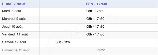 horaires d'ouverture de la Mairie De Lille