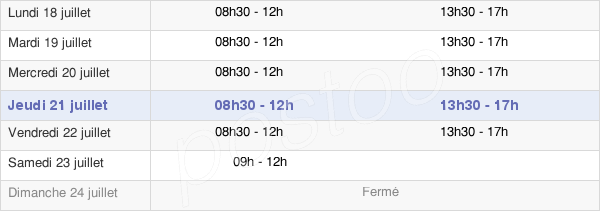 horaires d'ouverture de la Mairie D'Arleux
