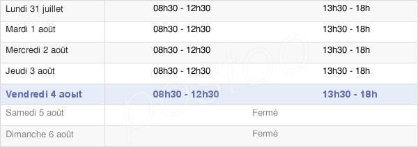 horaires d'ouverture de la Mairie D'Huriel