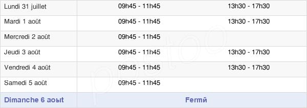 horaires d'ouverture de la Mairie D'Estrées