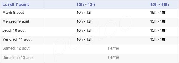 horaires d'ouverture de la Mairie D'Esquerchin