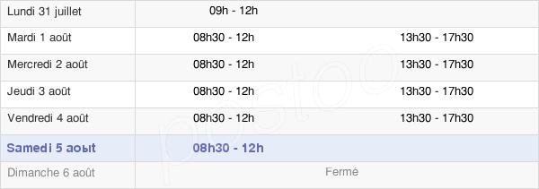 horaires d'ouverture de la Mairie D'Hem