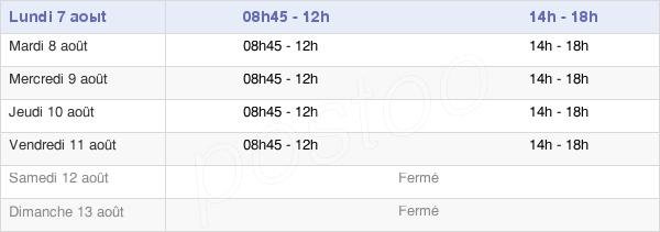 horaires d'ouverture de la Mairie Du Cateau-Cambrésis