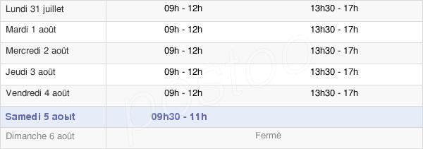 horaires d'ouverture de la Mairie D'Avesnelles