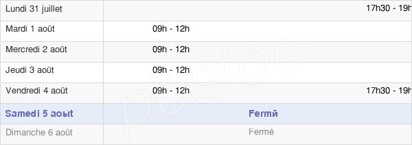 horaires d'ouverture de la Mairie De Sassegnies