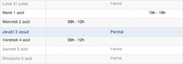 horaires d'ouverture de la Mairie De Seuillet