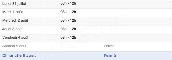 horaires d'ouverture de la Mairie D'Honnechy