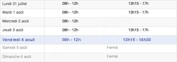 horaires d'ouverture de la Mairie De Diou