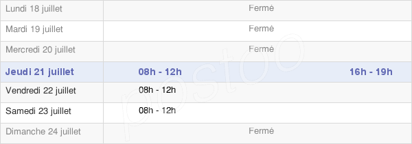 horaires d'ouverture de la Mairie D'Hantay