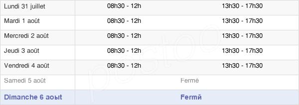 horaires d'ouverture de la Mairie De Lesquin