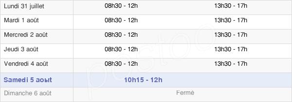 horaires d'ouverture de la Mairie De Guesnain