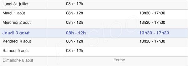 horaires d'ouverture de la Mairie De Neuville En Ferrain