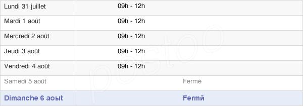 horaires d'ouverture de la Mairie De Teillet-Argenty