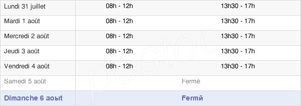 horaires d'ouverture de la Mairie D'Ecaillon