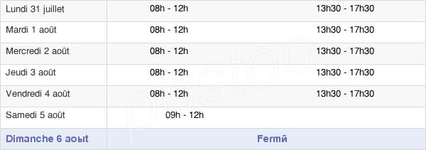 horaires d'ouverture de la Mairie D'Hordain