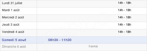 horaires d'ouverture de la Mairie De Villebret