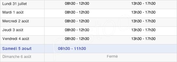 horaires d'ouverture de la Mairie De Trith-Saint-Léger