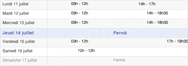 horaires d'ouverture de la Mairie De Thun-L'Evêque