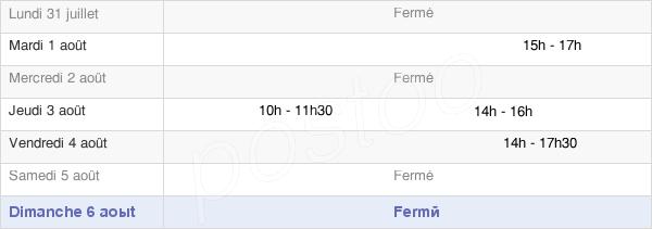 horaires d'ouverture de la Mairie De Clairfayts
