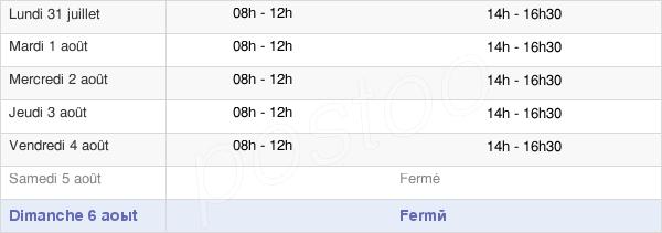 horaires d'ouverture de la Mairie De Rumilly-En-Cambrésis