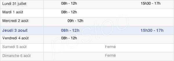 horaires d'ouverture de la Mairie De Villers-Au-Tertre