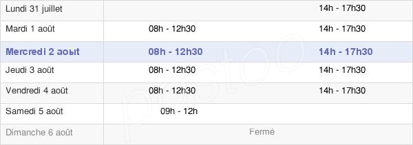 horaires d'ouverture de la Mairie D'Avesnes-Les-Aubert